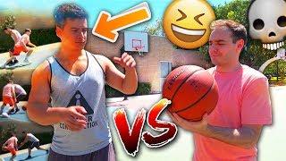 IRL BASKETBALL 1 V 1 VS WORST PLAYER EVER? THE NUTMEG THOUGH!?!?