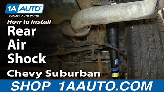 How To Install Replace Rear Air Shocks 2000-06 Chevy Suburban GMC Yukon XL