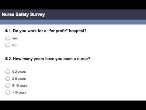 NURSE SAFETY SURVEY