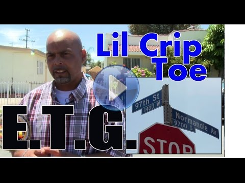 Lil Crip Toe from Eight Tray Gangster Crip, Back West Side, just released from prison
