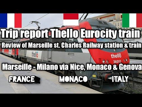 Thello EC train France - Italy   Marseille via Toulon, Nice, Monaco, Ventimiglia, Genova to Milan