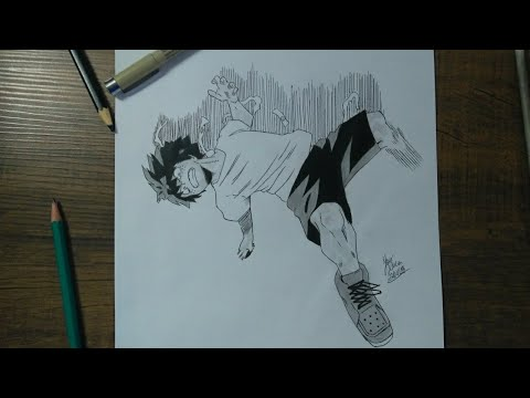 SPEED DRAWING Midoriya izuku Deku (my hero academy).