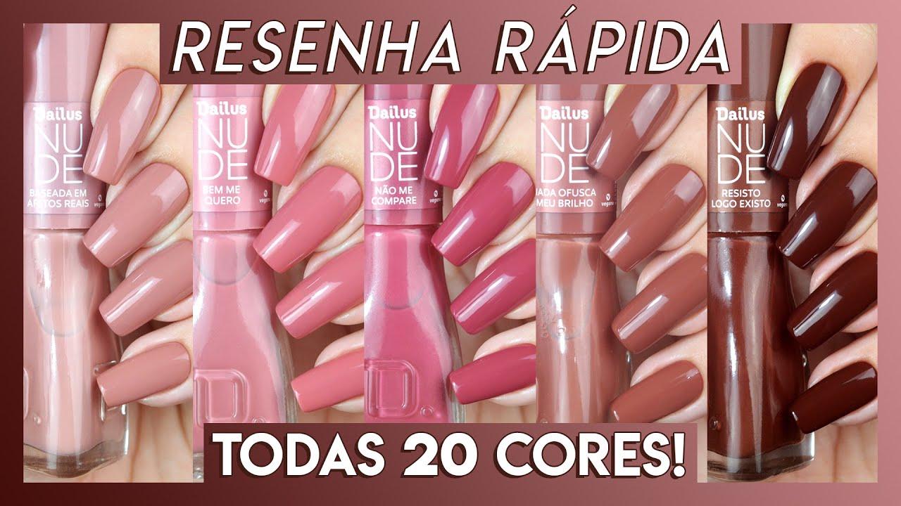 Coleção de esmaltes NUDE da Dailus - TODAS as cores | Resenha Rápida