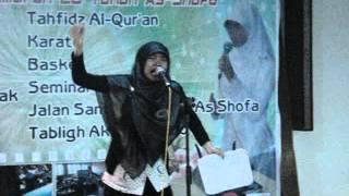 Juara 1  Lomba Baca Puisi As-Sofa Pekanbaru. Iffah Azzahra Aditya,  SMA IT MUTIARA DURI.MPG