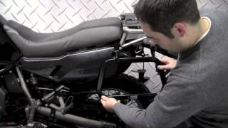 SW-Motech Quick-Lock Side Racks KLR650 Install on 2008 Kawasaki KLR