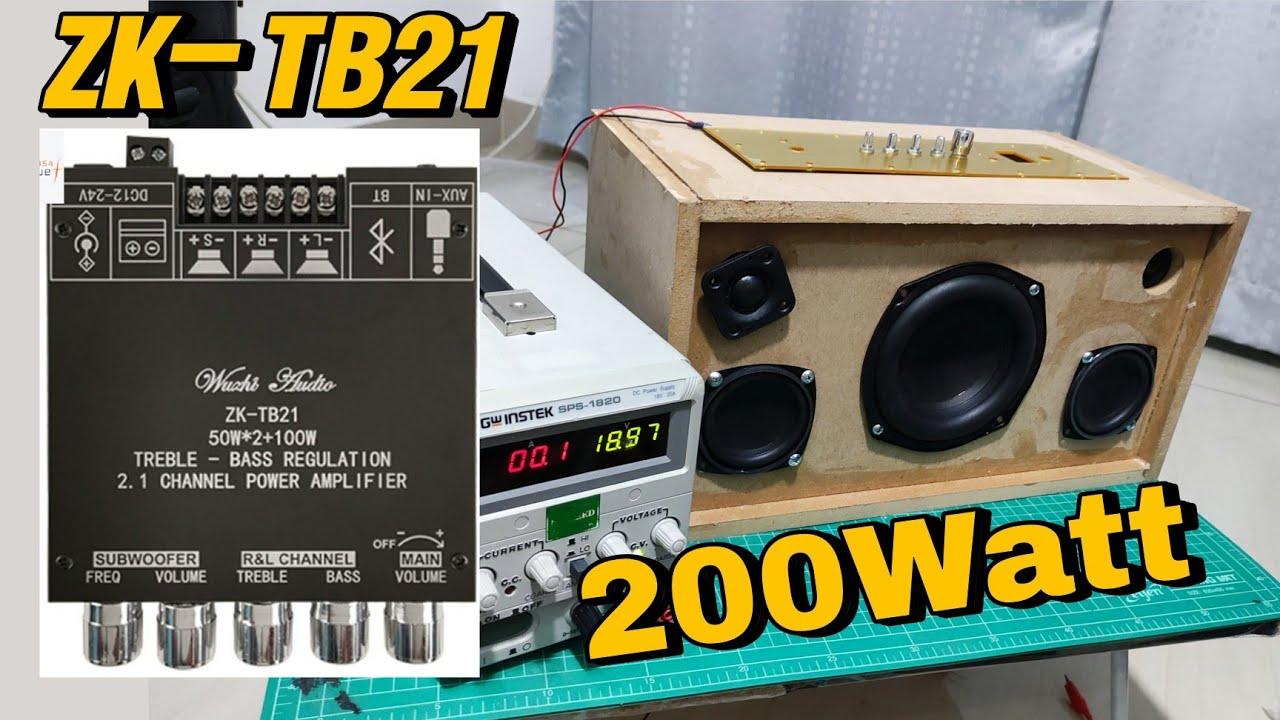 แอมป์จิ๋ว ZK-TB21 บลูทูธ 200 วัตต์ บอร์ดดำ  ต่อลำโพงHK 5 นิ้ว Harman kardon