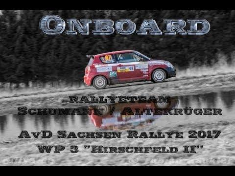 """Onboard """"AvD Sachsen Rallye 2017"""" WP 3 """"Hirschfeld II"""" Schumann/Altekrüger"""