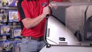 windshield for club car ds 2000 5 up   how to install video   madjax golf cart accessories