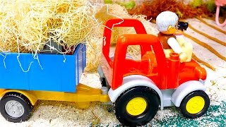 Tractors for children - Tractor videos for children - Animals toys - Tractors for kids