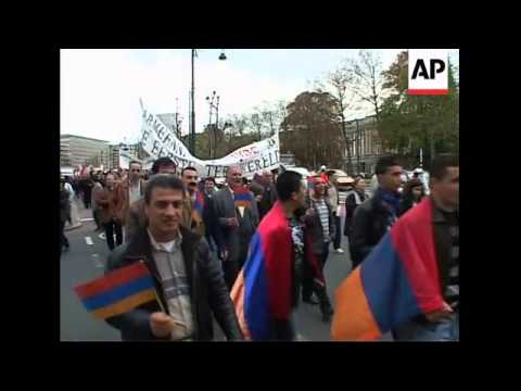 Armenians protest on anniv of mass killings at end of WW1