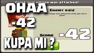 Tam -42 Kupa Kaybettim ! - KB 8'de Kupa Kasıyoruz #11 - Clash of Clans