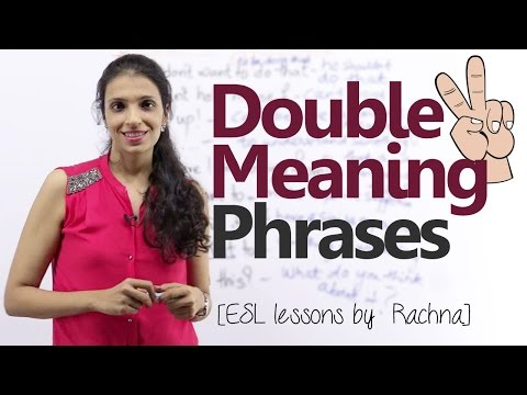 Double meaning phrases in English – Free English lesson