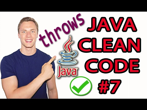 Java Clean Code Tutorial #7 - Exception Handling - Throw Exceptions Instead of returning Error Lists