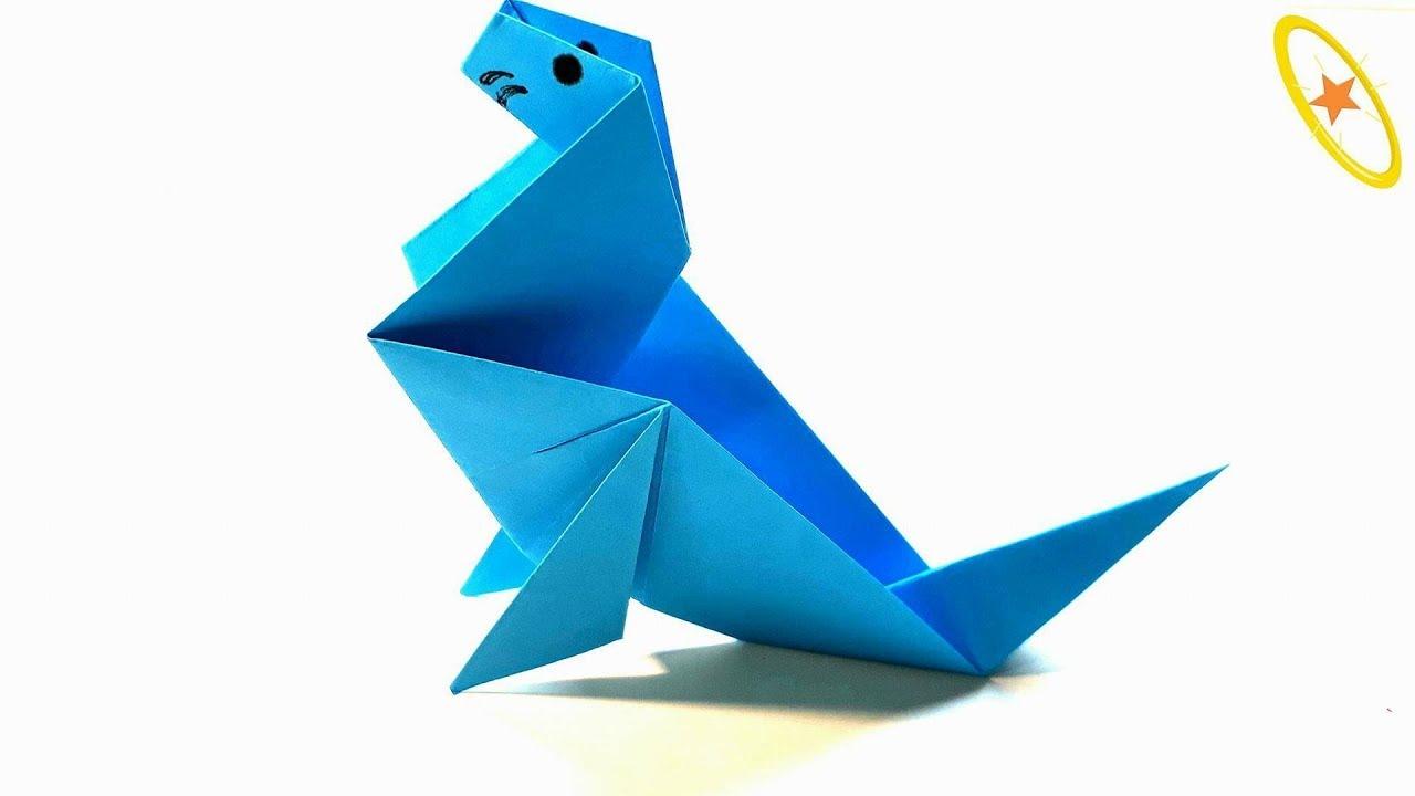 Origami seal folding instructions tutorial origami handmade origami tutorial how to fold an easy sea lion seal jeuxipadfo Gallery