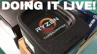 THREADRIPPER PC LIVE BUILD! - New Dedicated Streaming and Media Encoding PC