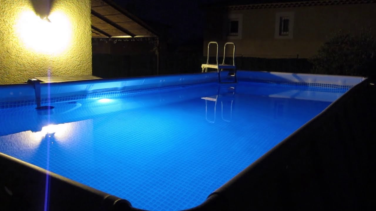 intex pool led light eclairage piscine intex youtube. Black Bedroom Furniture Sets. Home Design Ideas
