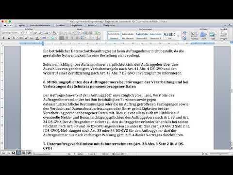 Auftragsverarbeitungsvertrag Datenschutz Schule Info 15