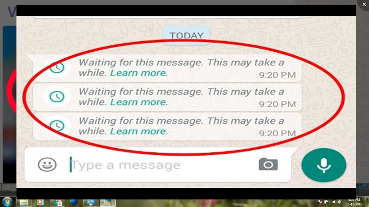 How to fix Waiting for this message.This may take a while