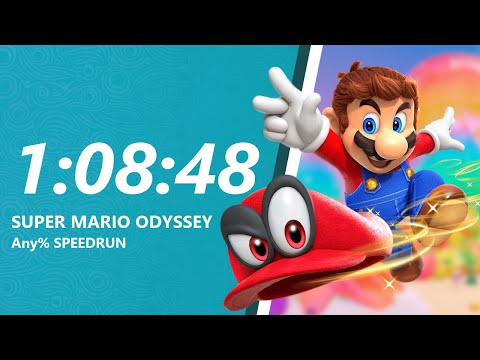 Thumbnail: Super Mario Odyssey - Any% Speedrun in 1:08:48 [World Record]