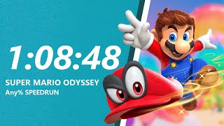 Super Mario Odyssey - Any% Speedrun in 1:08:48 [World Record]