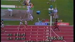 800m Final Men - Commonwealth Games, Auckland, NZ 1990