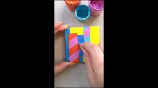#Shorts 🌈🍭🍬tiktokartist tiktokart fyp paintpeel tapepeel artvid paintingvideo satisfyingvideo ar