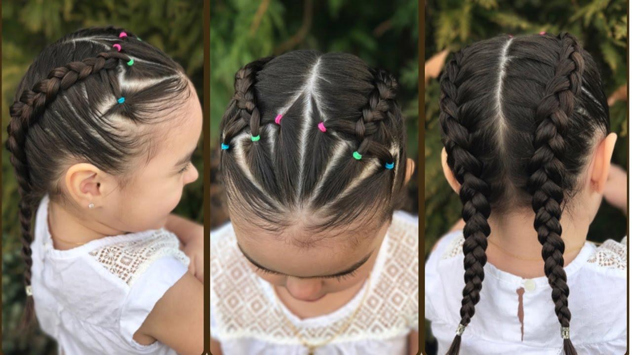 Trenzas Holandesas Con Ligas Peinados Faciles Para Ninas Lph