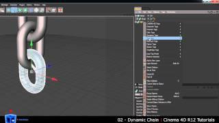 Cinema 4D Tutorial - 02 - Dynamic Chain