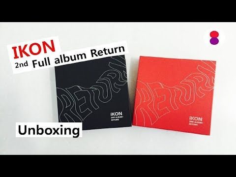 IKON Return unboxing 2nd full album 아이콘 리턴 2집 언박싱
