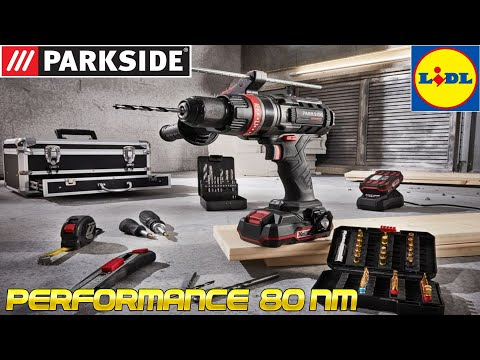 Taladro PARKSIDE PERFORMANCE 80 NM negro LIDL