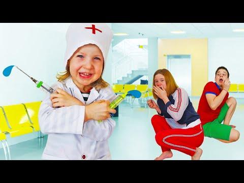 Дети играют в больницу и доктора. Сборник видео для детей.
