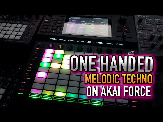 Akai Force and Access Virus Synth - One Handed Melodic Techno Progressive House Groovebox mix