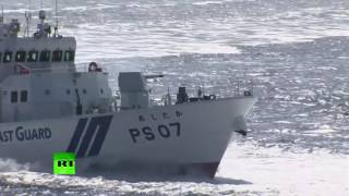 RAW  15 vessels, 4 aircraft take part in Japan's coastguard drills