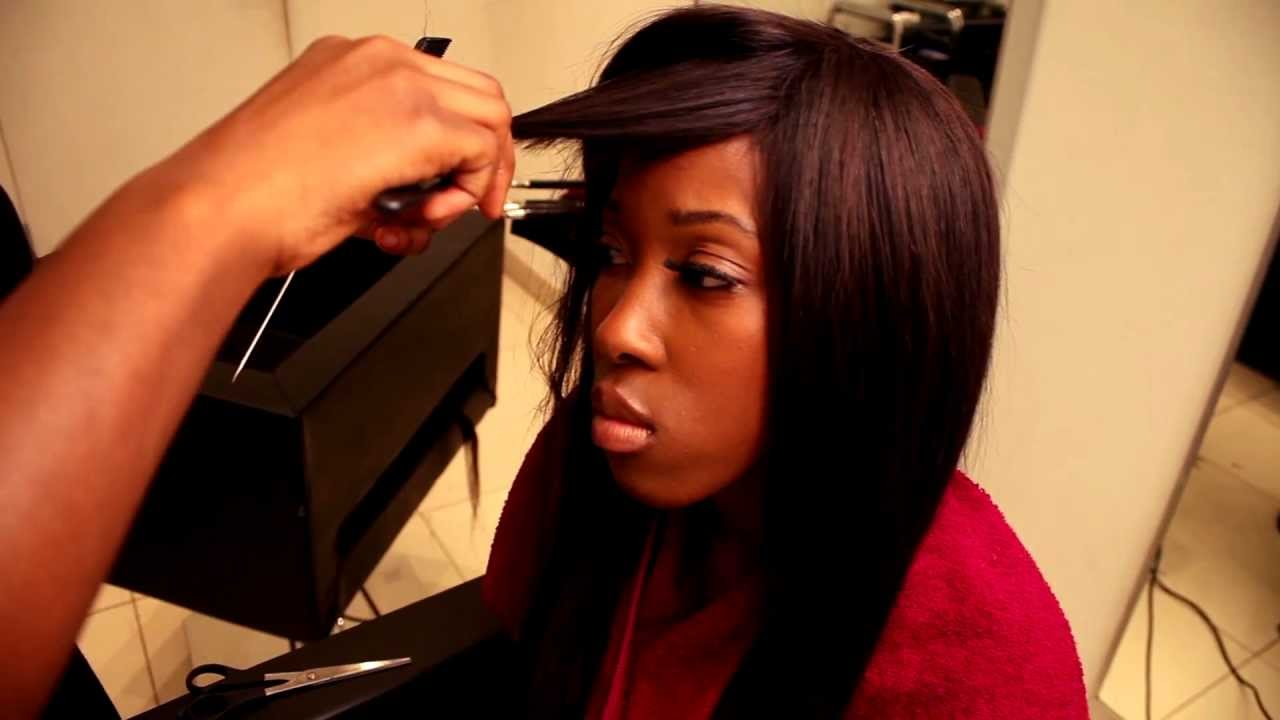 Full Hair Weave Styles: Full Head Side Parting Weave