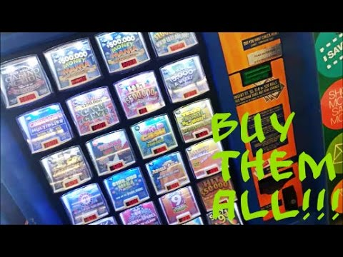 BUYING ALL THE LOTTERY TICKETS IN THE MACHINE!!! EP.1 ...