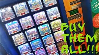 BUYING ALL THE LOTTERY TICKETS IN THE MACHINE!!! EP.1