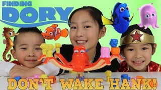 Disney Finding Dory Don't Wake Hank Game Unboxing Superhero Playtime Fun With Red Ranger Ckn Toys