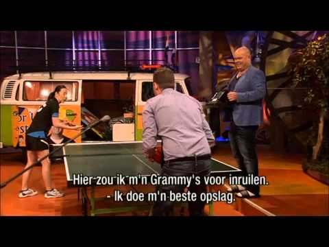 Table Tennis-The greatest moment of Michael Bublé vs. Li Jiao