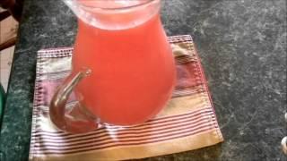 Agua De Sandia Con Jugo De  Limon