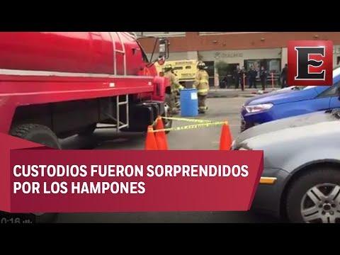 Asalto a camioneta de valores en Plaza Oriente deja un herido