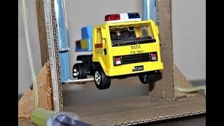 How To Make a Car Service lift | Hydraulic Lift Project | Hydraulic Car Lift | Using Cardboard