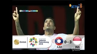 Goal Alberto Goncalves - Sepak Bola Putra Laos (0) vs (1) Indonesia | Asian Games 2018 - 17/08/2018