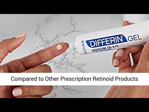 Differin Adapalene Gel 0 1 Acne Treatment 15g 30 Day Supply 0 5 Ounce Youtube