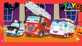 Halloween Song l The Rescue Team Halloween l Fire Truck Police Car & Ambulance l Tayo the Little Bus
