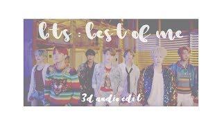 Video 『 BTS - BEST OF ME 』3D edit use headphones!! download MP3, 3GP, MP4, WEBM, AVI, FLV Mei 2018
