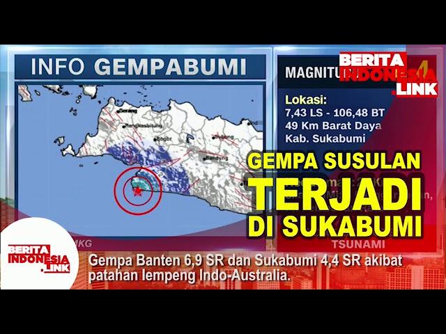 Gempa susulan terjadi di Sukabumi