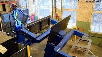 Robottihitsausasema toiminnassa. SBA Interior, Mustio