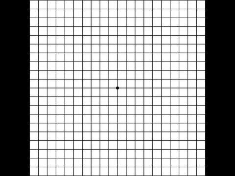 Macular Degeneration Vision Test Using Amsler Grid
