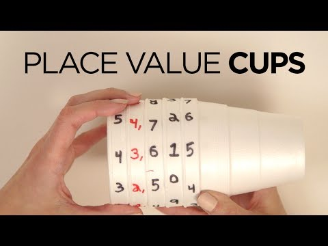 Fun Place Value Activity Using Cups