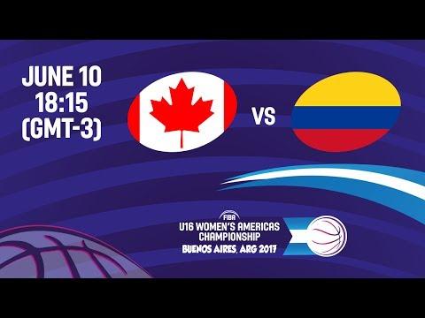Canada vs Colombia - Semi-Final #1 - FIBA U16 Women